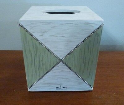 Nwt New Mike & Ally Select Edition Designer Bathroom Tissue Box Cover High End
