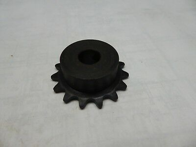 "Sprocket #35 Roller Chain 15 tooth 1/2"" Shaft Unkeyed Set Screw"