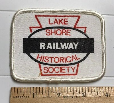Lake Shore Railway Historical Society Museum LSRHS PA Souvenir Printed Patch