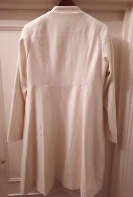 Jojo Maman Bebe Cream Princess Line Maternity Coat Cream Wool 10, small