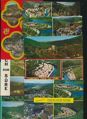 Esch-sur-Sûre  lot de 8 cartes