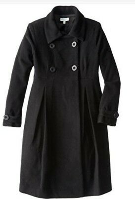 jojo maman bebe black maternity coat. really versatile coat.  8, xs.