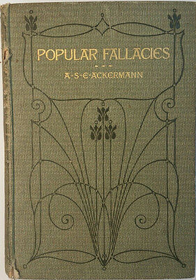 Vintage Book - Popular Fallacies by  A-S-E-ACKERMAN Cassell and Company Ltd.