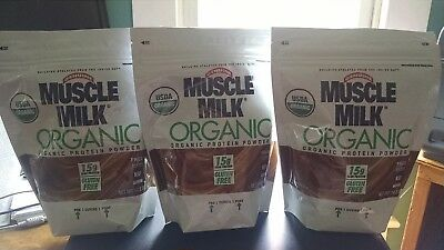 30 Bags Muscle Milk Organic 15g Pwo Protein 1lb Chocolate Free Ship Exp 7 17