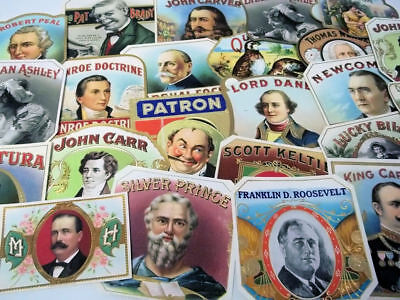 42 Different Vintage Outer Cigar Box Labels...All Nice...
