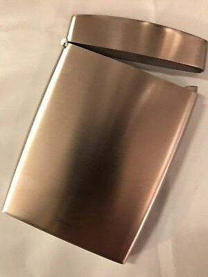 blomus GENTS stainless steel business card holder HINGED  MAKE AN IMPRESSION