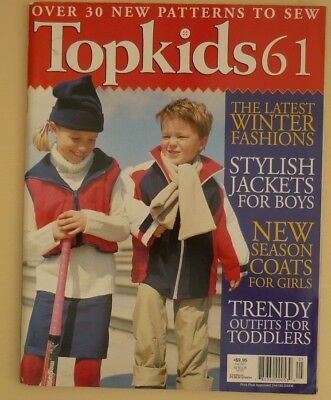 Topkids No. 61 - Sewing Magazine Of Kids Fashion - Uncut Patterns Included
