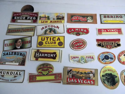 30 Different Small Vintage Cigar Labels...ends,nail tags etc.