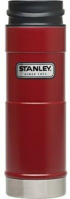 NEW Stanley Coffee Thermos Vacuum Mug Bottle Stainless Steel Hammerton Red 16oz