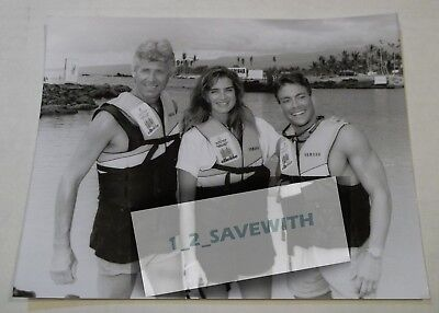 1991 BROOKE SHIELDS BARRY BOSTWICK JEAN CLAUDE VAN DAMME CELEBRITY 7x9 PHOTO