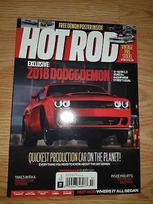 HOT ROD 2017 JULY Dodge Demon Dodge Demon Brochure Magazine Dodge Demon Press