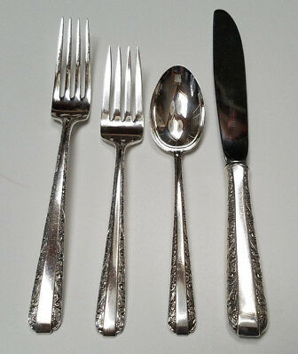 set of 4 vintage towle CANDLELIGHT Butter Knives sterling silver No Mono Clean