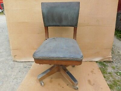Vintage Stow Davis Furniture Co Wood Office Chair Swivel 85 00
