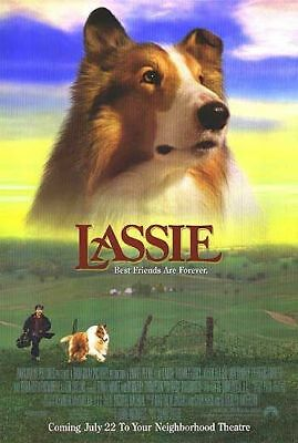 LASSIE Helen Slater Original Single Sided Rolled Collie 27x40 Movie Poster 1994
