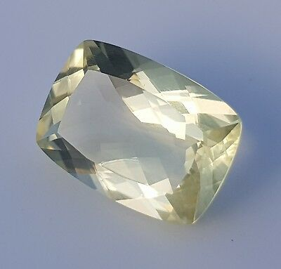 WaterfallGems Lemon Citrine Cushion Cut, 14x10mm, 5.66ct
