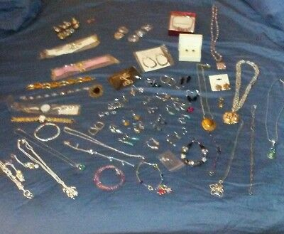 Huge 60+ PC. lot of mixed jewelry, various brands, most new! Must look!