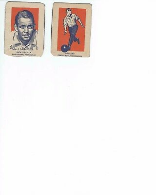 1952 Wheaties Ned Day Bowler And Jack Kramer Tennis Cards
