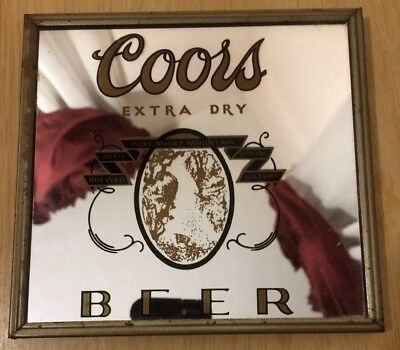 Coors Beer Mirror Carnival Prize 5.75x5.5