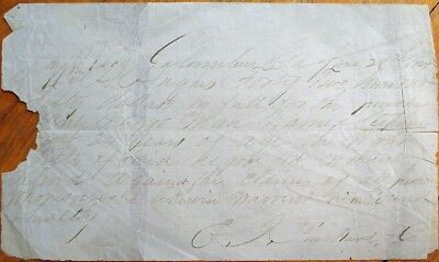 SLAVE Document: 1864 Columbus, GA - Sale of 24 Year-Old Negro/Black Man, Stephen