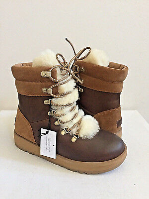 54802a3fa0d UGG VIKI WATERPROOF EXPOSED SHEARLING CHESTNUT LACE Boot US 11 / EU ...