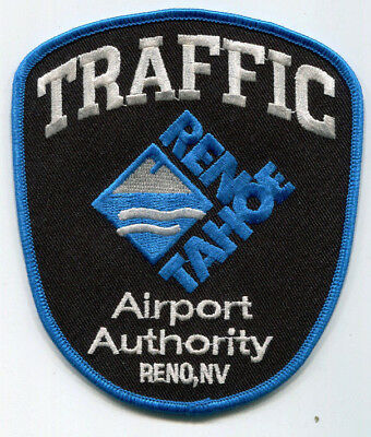 Reno-Tahoe Nevada Airport Authority Police Traffic Patch /// FREE US SHIPPING