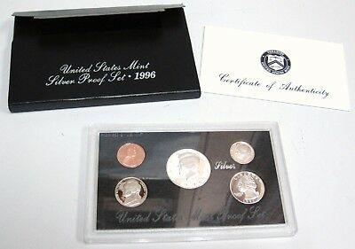1996 S United States U.S Silver COIN Proof Set Original Box Kennedy Mint w/ COA