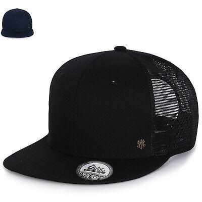 69d0a768 ililily Extra Large Size Solid Color Flat Bill Snapback Hat Blank Baseball  Cap