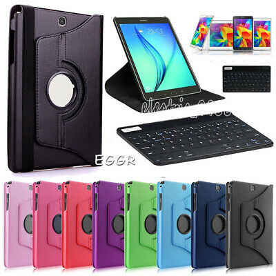 "For Samsung Tab A A6 7"" 8"" 10.1"" inch Tablet Keyboard Rotate Leather Case Cover"