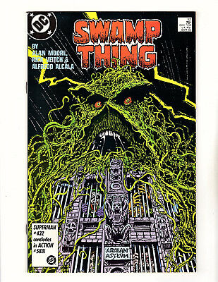 Swamp Thing #52 (1986, DC) NM- Vol 2 Arkham Asylum Gotham City Alan Moore