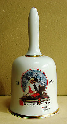 1975 Norman Rockwell Christmas Bell Saturday Evening Post 1st Limited Edition