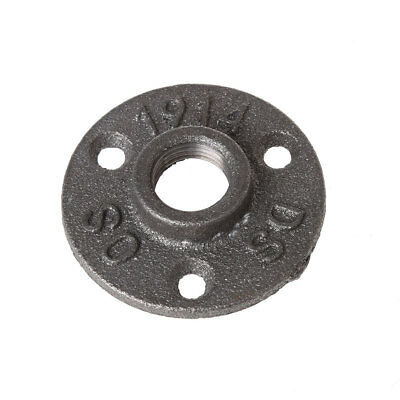 """New 1/2"""" Malleable Thread Floor Flange Iron Pipe Fittings Wall Mount Industrial"""