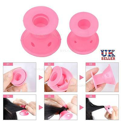 24X Silicone Hair Curlers Rollers Gift For Her Heat Free Styling DIY Cosmetic