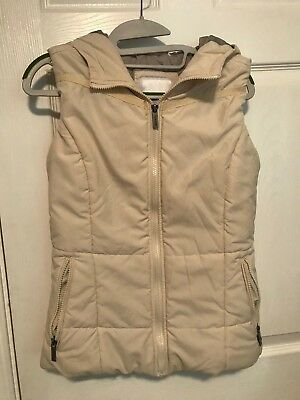 Bench hooded off white vest womens small