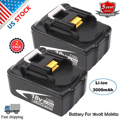 2Pack NEW 18V 3.0AH Lithium-Ion Battery For MAKITA BL1830 BL1815 LXT 400 BL1840
