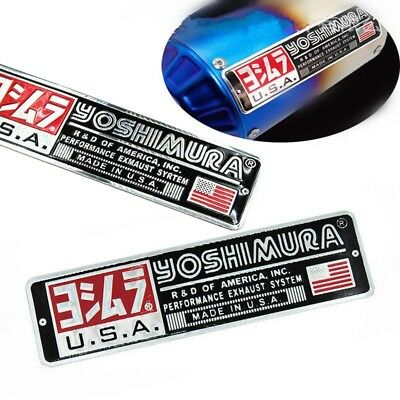 2PCS Motorcycle Exhaust Pipe Sticker Heat-resistant Yoshimura Emblem Decal