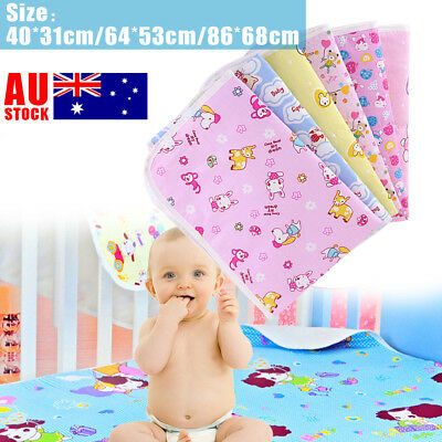 Waterproof Changing Diaper Pad Cotton Washable Infant Baby Urine Mat Nappy Pad
