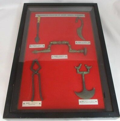 The Garamycin Framed Collection of Ancient Surgical Instruments Medical