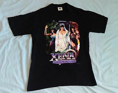 "Early CLASSIC, VINTAGE! XENA ""WARRIOR, PRINCESS, TRAMP"" T SHIRT! NEW! ADULT LRG"