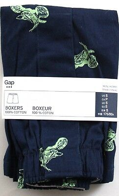 NIP Mens GAP Boxers 100% Cotton Blue George Bike - 792632