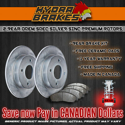 FITS 2011 2012 2013 DODGE RAM 1500 OE BLANK Brake Rotors SLV REAR