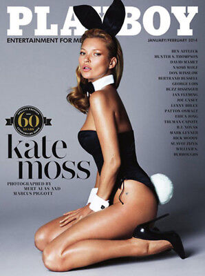 NEW PLAYBOY JANUARY/FEBRUARY 2014 | Kate Moss 60th Anniversary Issue