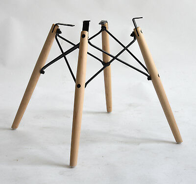 Eames REAL American Maple Dowel Base, Black Frame - for Shell Chair NEW