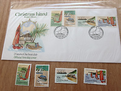 Christmas Island 1983 - 25 Years of the Boat Club - 27c,35c,50c,75c MNH + FDC