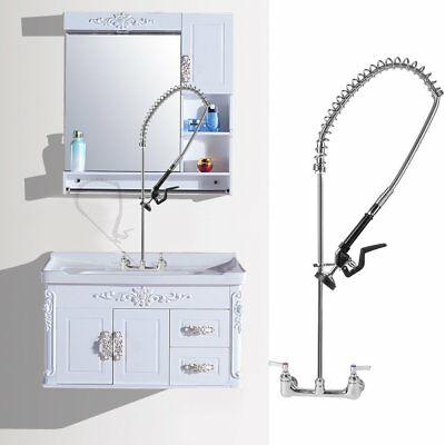 Commercial Kitchen Wall Mount Pre Rinse Faucet Wash Rstaurant Hotel Home Bar QZ