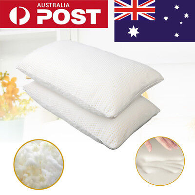2X Memory Foam Pillows Deluxe Shredded Visco Elastic Memory Foam Contour Pillow