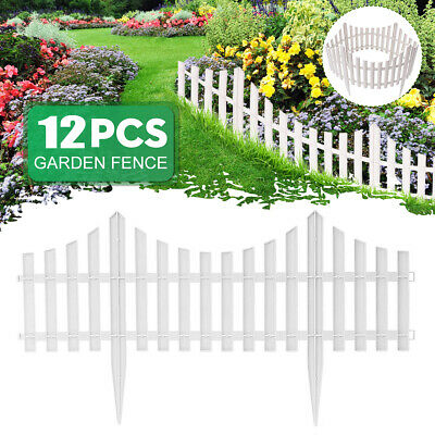 12 Pack Garden Border Fencing Fence Pannels Outdoor Landscape Decor Edging  Yard