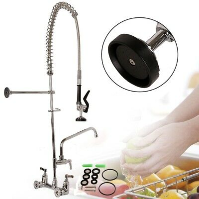 "Commercial Kitchen Restaurant Pre-Rinse Faucet Swivel with 12"" Add-On Faucet QZ"