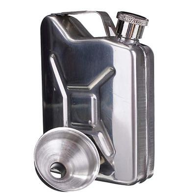 5oz Stainless Steel Jerry Can Hip Flask Liquor Wine Alcohol Pocket Bottle Supply