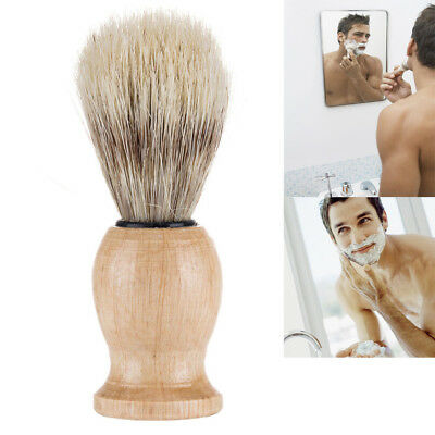 Men Shaving Bear Brush Best Badger Hair Shave Wood Handle Razor Barber Tool