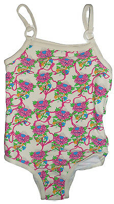 Size 18-24 mths / 6-12 mths - Baby Girls Ed Hardy Ivory/Pink Print Swimsuit